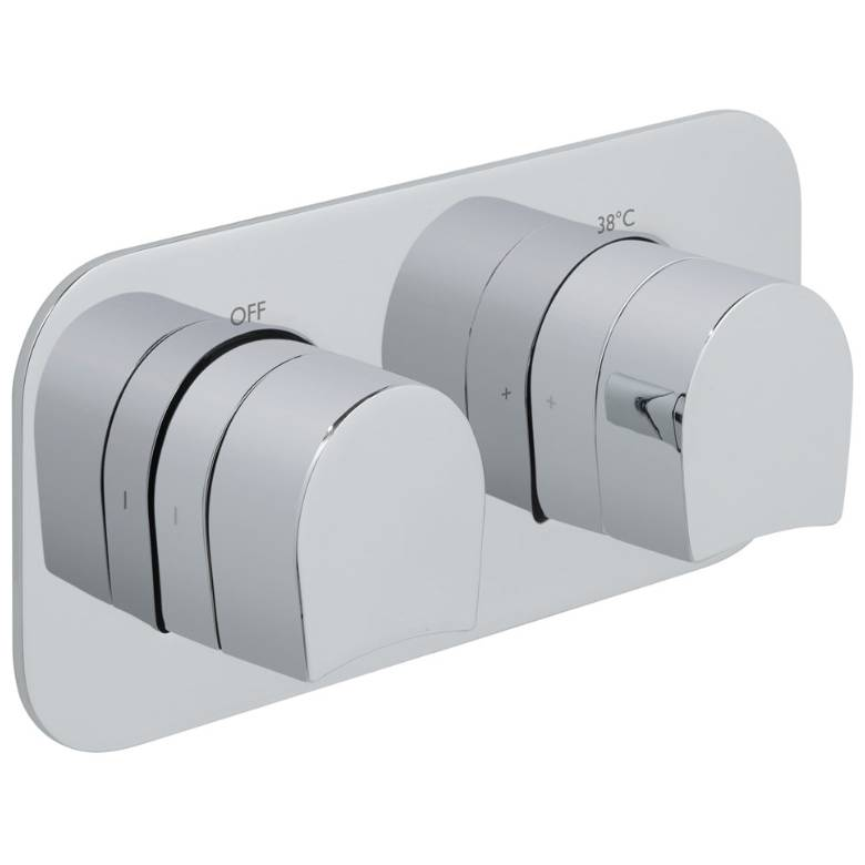 Vado Kovera 1 Outlet, 2 Handle Thermostatic Valve (TAB-148-H-KOV-C/P)