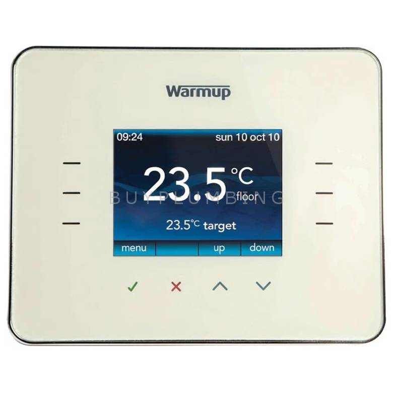 Warmup Classic Cream Programmable Energy-Monitor Underfloor Heating Thermostat (3IE CC)
