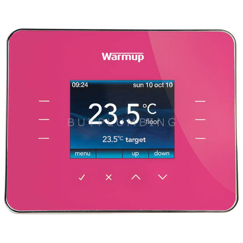 Warmup Deep Pink Programmable Energy-Monitor Underfloor Heating Thermostat (3IE DP)