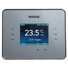 Warmup Silver Grey Programmable Energy-Monitor Underfloor Heating Thermostat