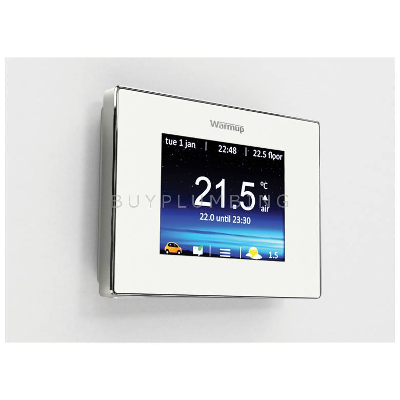 Warmup Bright Porcelain Smart WiFi Underfloor Heating Thermostat (4IE WIFI BP)