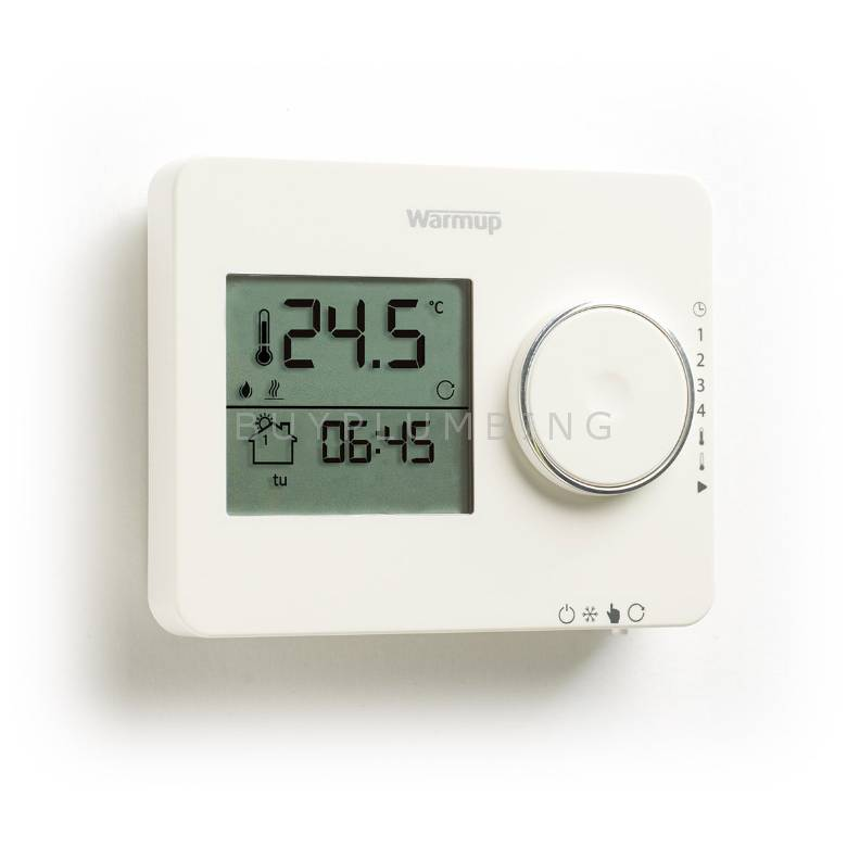 Warmup Tempo Porcelain White Programmable Underfloor Heating Thermostat (TEMPO PW)